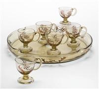 chardons liqueur set (set of 7) by émile gallé
