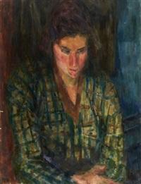 portrait de femme by eugène ebiche