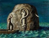 das relief auf dem felsen (der fels im meer) by edgar ende