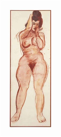 untitled (nude female) by red grooms