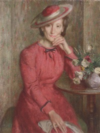 portrait of a lady by bernard fleetwood-walker