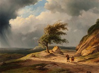 a break in the clouds by cornelis lieste