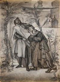 scena biblijna (from natan mędrzec) by moritz gottlieb