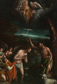the baptism of christ by antonio da ponte bassano