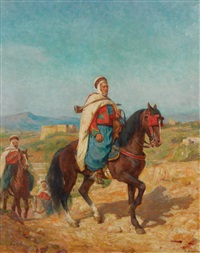 cavalier arabe by henry jacquier