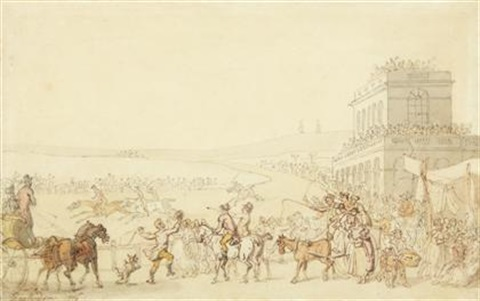 at the races by thomas rowlandson