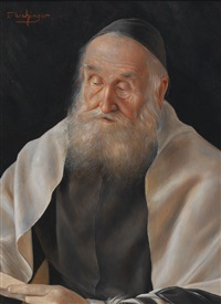 portrait of a rabbi by otto eichinger
