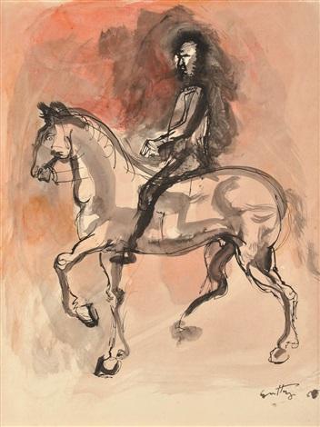 le cavalier by renato guttuso