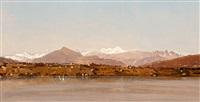 vue du mont blanc depuis le lac léman by marc dunant
