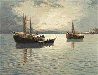 boats in the morning by georg arnold