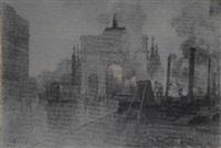 leopoldstrasse mit siegestor in münchen by charles vetter