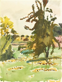 the pear tree -- autumn by fairfield porter