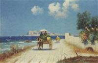 palermo, strada costiera con il monte pellegrino by erminio cremp