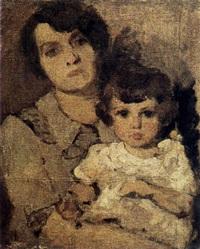 fillette dans les bras de sa mère by igor vesiolkine
