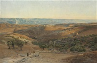 the mountains of maob seen from bethany by gustav bauernfeind