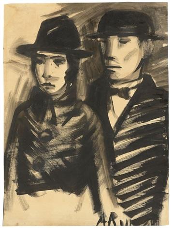 Mann Mit Steifem Hut Und Frau By Anton Raderscheidt On Artnet