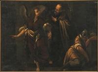san pietro liberato dall'angelo by italian school-roman (17)