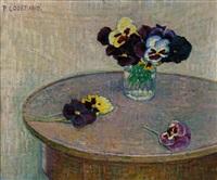 nature morte aux violettes by pierre-philippe godet