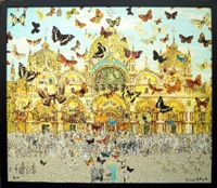 the butterfly man in venice: homage to damien hirst by peter blake