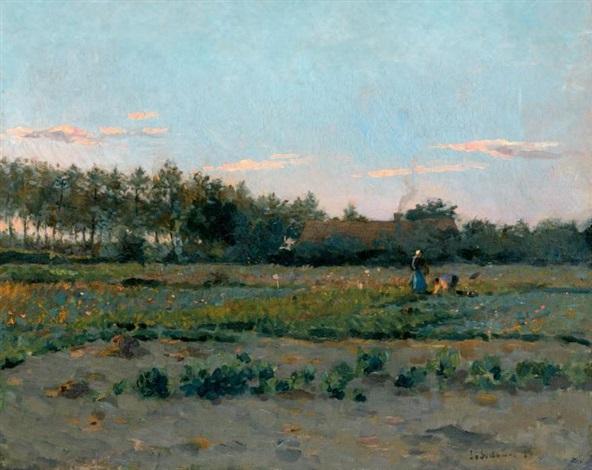 champ de coquelicots by henri le sidaner