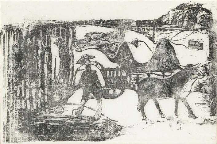 le char à boeufs souvenir de bretagne by paul gauguin