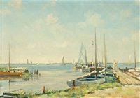 view of loosdrecht by fred hartsuijker