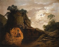 virgil's tomb by moonlight by joseph wright (of derby)