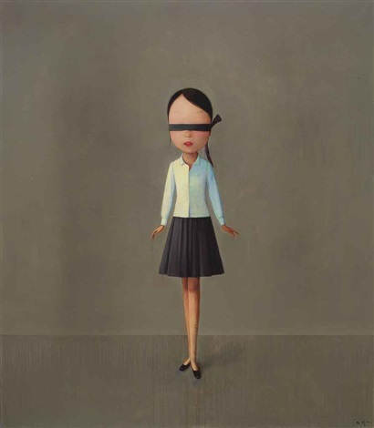 composition with black white and grey by liu ye