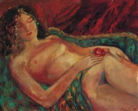 reclining nude by paul ayshford methuen