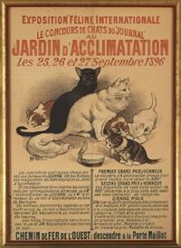 exposition feline internationale, le concours de chats du journal au jardin d'acclimatation, les 25, 26 et 27 septembre 1896 by auguste roedel