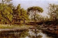 paisaje con lago by ernesto gutiérrez hernández