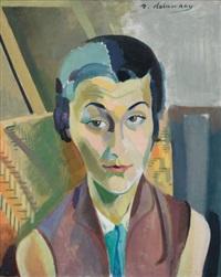 portrait de maria lani by robert delaunay