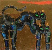 two black panthers by popo iskandar
