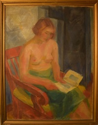 reading nude by leon abramowicz