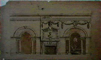 design for the marble parlour at houghton hall by william kent
