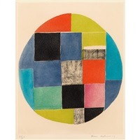 composition within a circle by sonia delaunay-terk