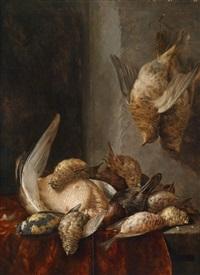 jagdstillleben mit erlegtem geflügel by cornelis van lelienbergh