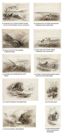 a collection of sketches from horrocks expedition and south australia 10 works by samuel thomas gill