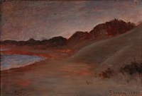 evening atmosphere at skagen beach by carl ludvig thilson locher
