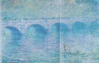 waterloo bridge, brouillard by claude monet