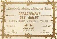 musée d'art moderne, section xixe siècle, département des aigles by marcel broodthaers