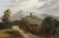 a mountainous landscape by john eadie