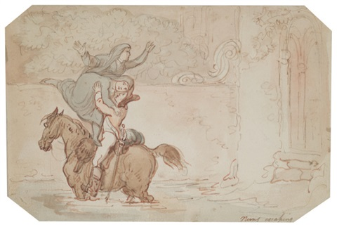 nuns escaping by thomas rowlandson
