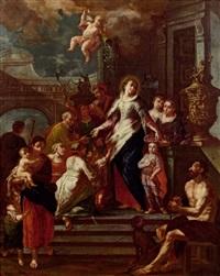 die hl. elisabeth verteilt almosen by daniel gran