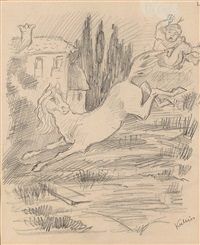 fleeing horse by alfred kubin