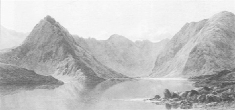 loch coruisk with the cullins beyond skye by james jackson curnock