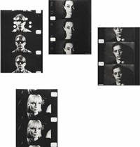screen tests: timothy baum ( + 9 others; suite of 10) by gerard malanga and andy warhol
