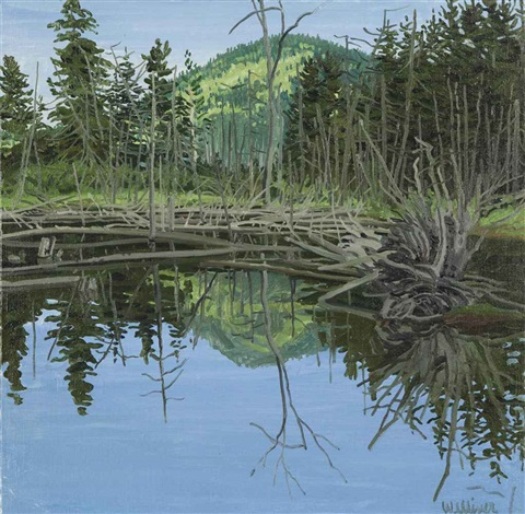 study for crater outlet by neil welliver