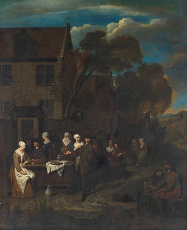 wirtshausszene by jan baptist lambrechts