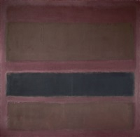no. 18 (brown and black on plum) by mark rothko